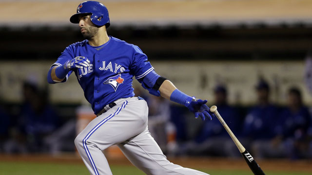 Jays' Bautista loses to Sogard in #FaceofMLB