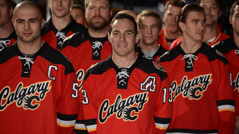 Flames unveil new third sweater at fan event - Sportsnet.ca 781045edc