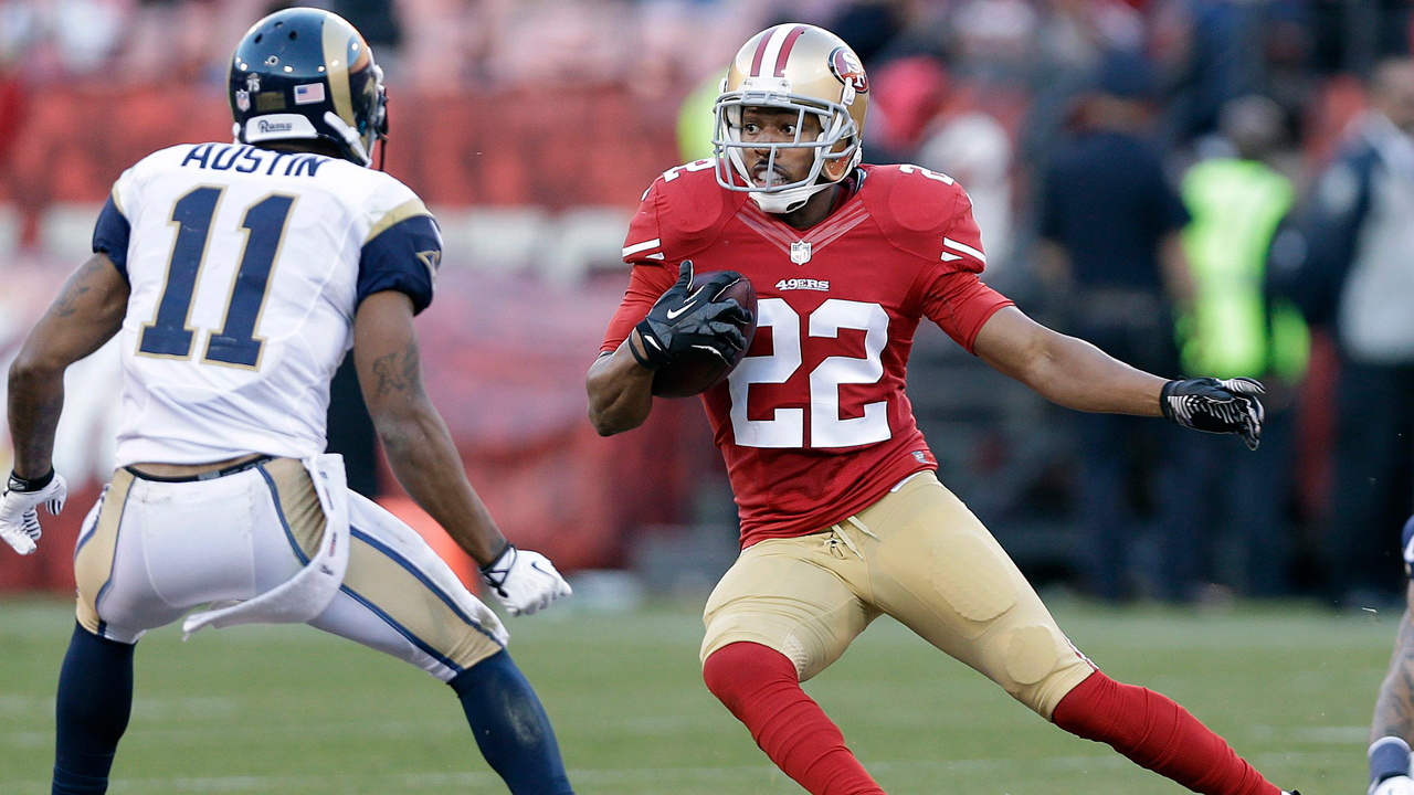 ae07773f3 With Rogers' departure, San Francisco will clear $5.1 million in salary cap  room and might decide to pursue its own free agents in safety Donte Whitner  and ...