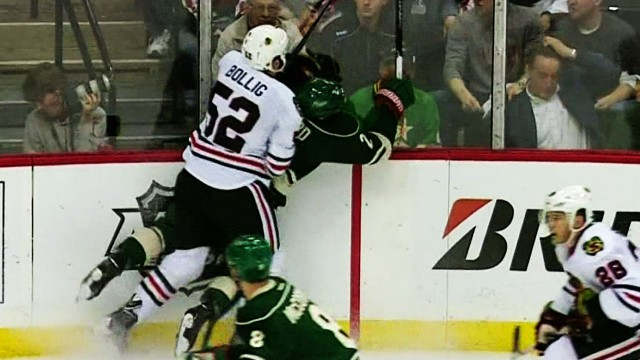 Blackhawks' Bollig Faces Disciplinary Hearing For Dangerous Cheapshot From Behind On Ballard
