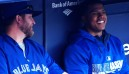 Stroman looking up to 'Papa Buehrle' in the clubhouse