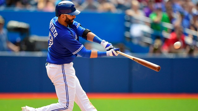 Blue Jays' Bautista sitting after cortisone shot