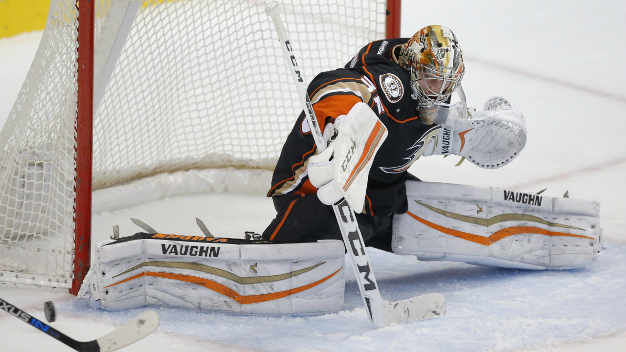 Ducks' John Gibson named rookie of the month for December