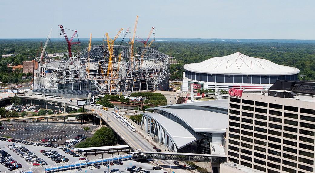 Blank Work On Falcons 39 New Stadium On Schedule