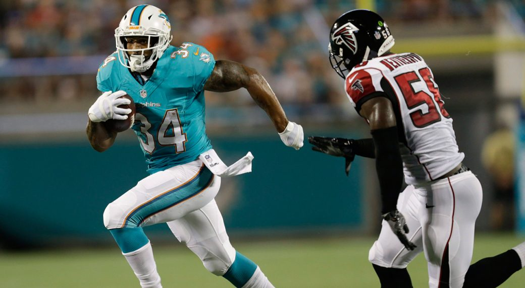 ... Foster, lef... J Ajayi Dolphins