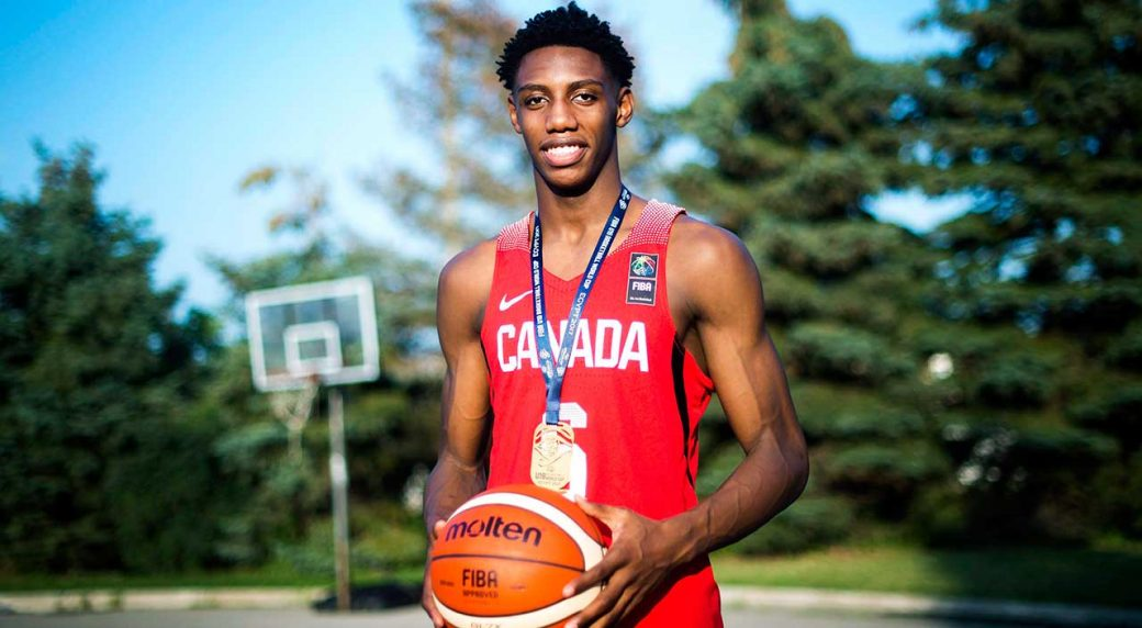 Canadas RJ Barrett Named High School Basketball Player