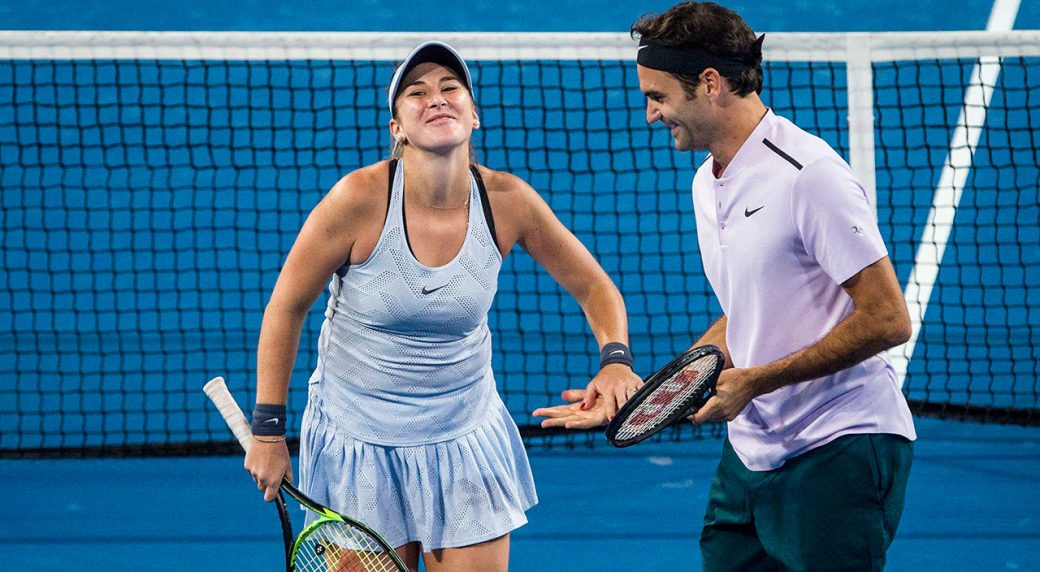 Federer Bencic Lead Swiss Over Us And Into Hopman Cup Final