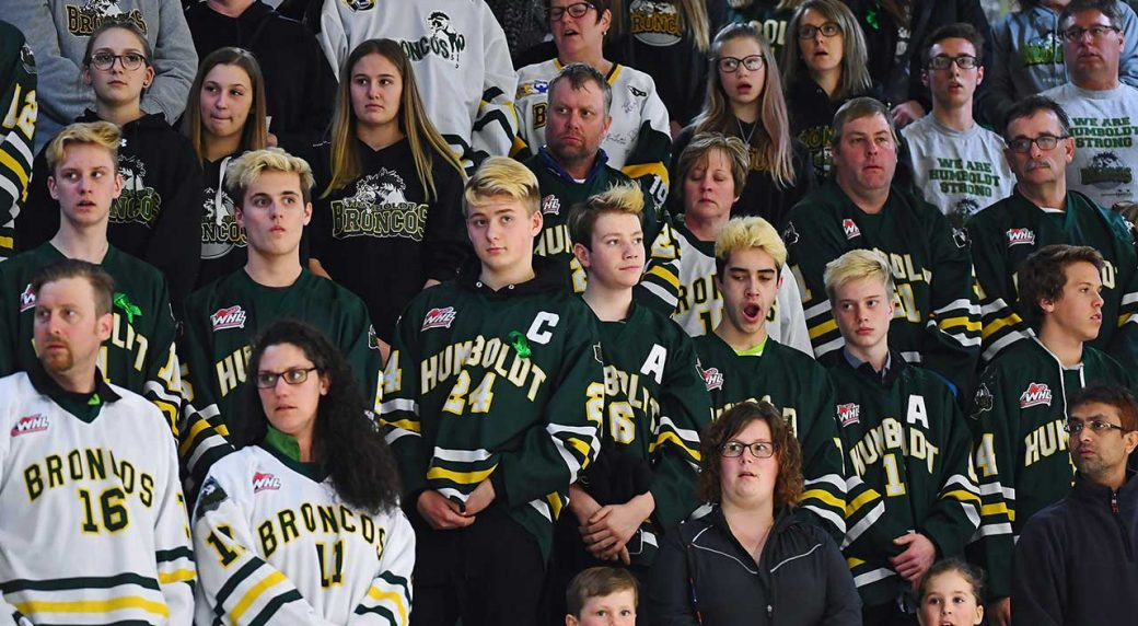 Tears flow as thousands gather to remember Humboldt Broncos ... eba179c6a