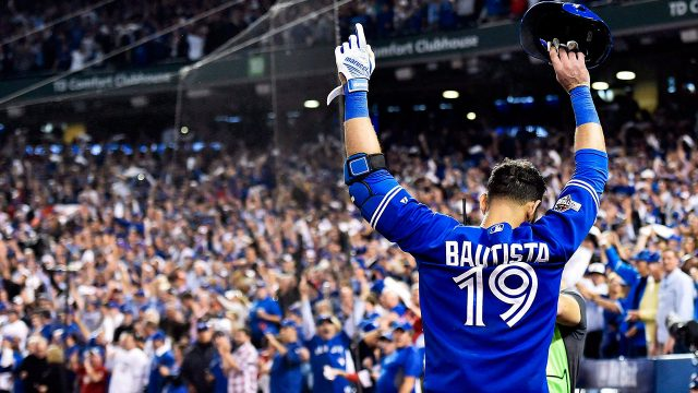 Former-Toronto-Blue-Jays-star-Jose-Bautista-waves-at-fans-at-Rogers-Centre-during-the-2015-playoffs.