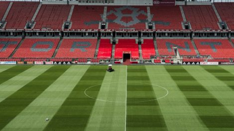 BMO-Field-in-Toronto-is-pictured-on-Wednesday,-June-13,-2018.-FIFA's-member-associations-voted-134-to-65,-with-one-no-vote,-Wednesday-in-favour-of-the-joint-North-American-bid-by-Canada,-the-U.S.-and-Mexico-to-host-the-2026-World-Cup-over-that-of-Morocco-at-the-FIFA-Congress-in-Moscow.-(Christopher-Katsarov/CP)