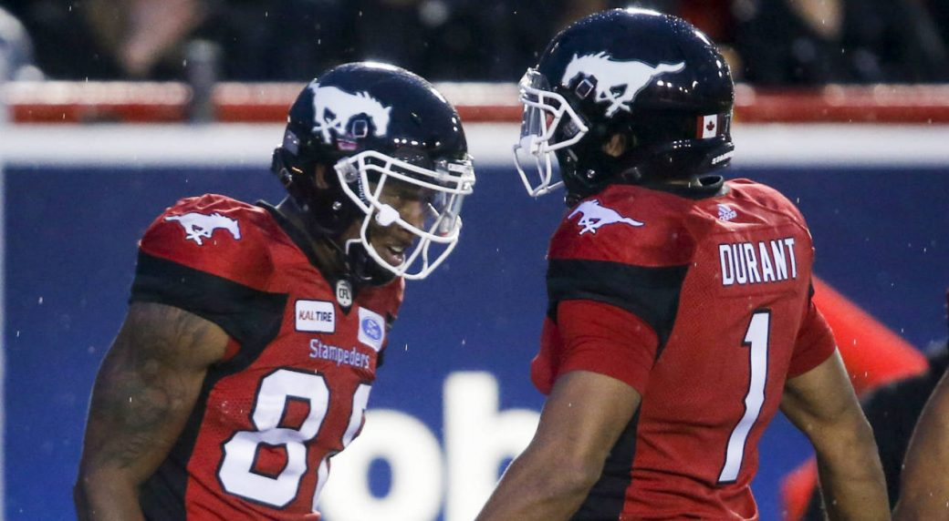 d0e7104f3e1 Stampeders defence stands out in Calgary s win over Ottawa Redblacks. Calgary  Stampeders  Kamar Jorden ...