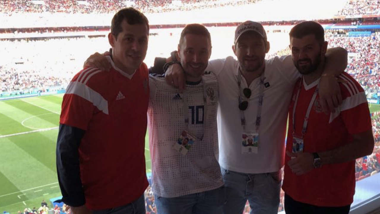 Kovalchuk, Ovechkin, Malkin, Radulov go nuts for Russian World Cup win