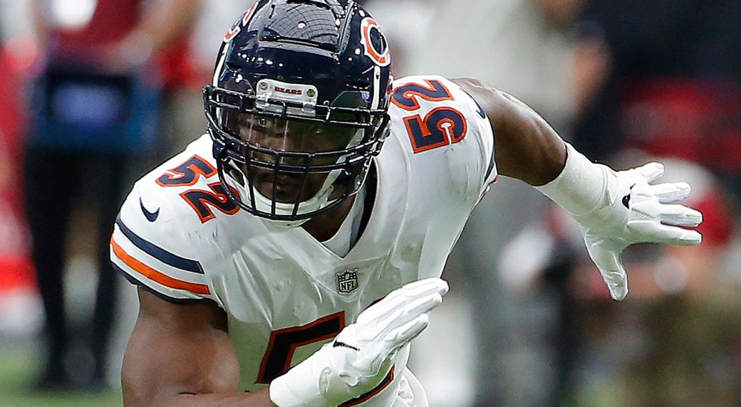399ef129998 Bears pass rusher Khalil Mack day to day with ankle injury ...