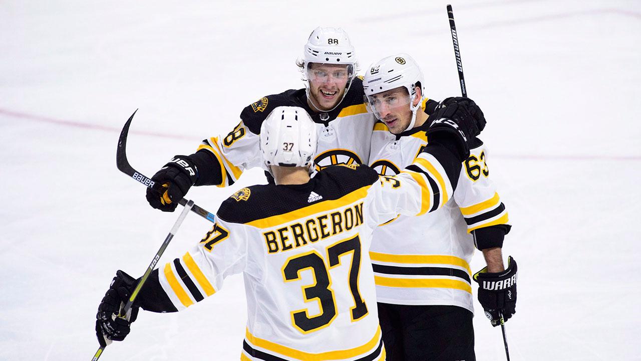 Pastrnak, Bergeron Combine For Seven Points To Lead Bruins Past Senators