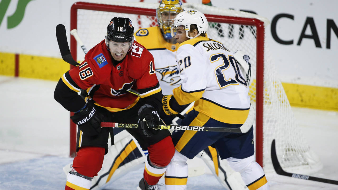 Flames' James Neal's Growing Pains Continue In Loss To Predators