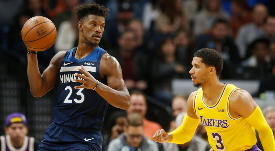 Butler's 4th-quarter surge lifts Wolves over Lakers