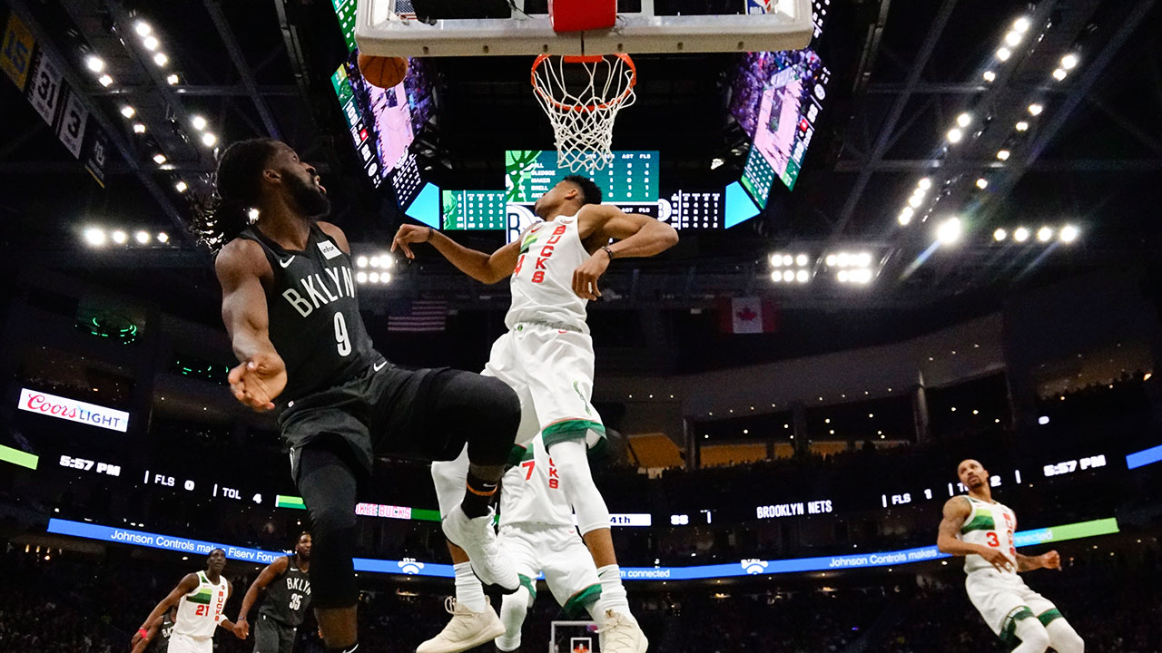 antetokounmpo s triple double helps bucks turn away nets sportsnet ca