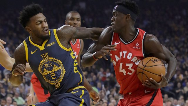 raptors-pascal-siakam-drives-against-warriors-jordan-bell