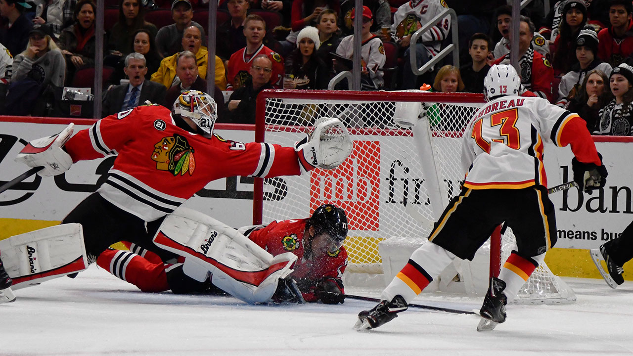 Windy City Blues. Flames Beat Struggling Hawks In Chi-Town