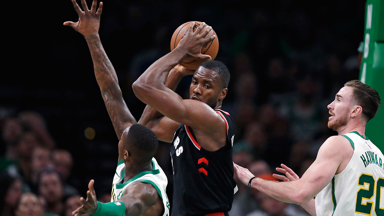 487f7fac7ca3 Raptors left looking for late-game Plan B after loss to Celtics. Kyrie  Irving shined with 27 points ...
