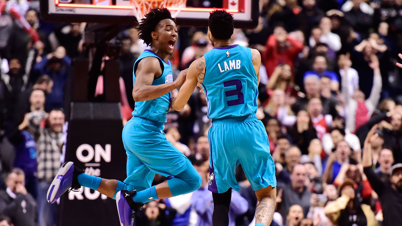 Jeremy Lamb buzzer-beater leads Hornets to victory over Raptors