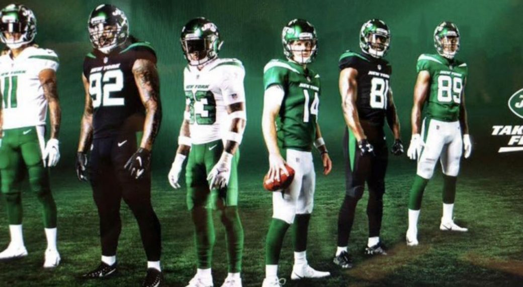 d8e9de760b4 Twitter Reaction: Leaked Jets uniforms look like CFL's Roughriders ...