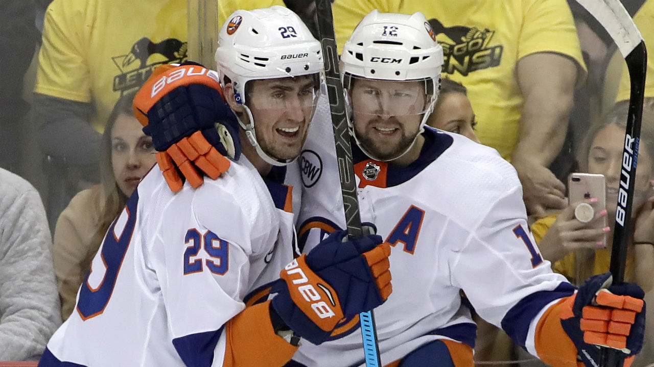 Clean Up On Aisle 4. Isles Sweep Penguins And Advance To Round Two
